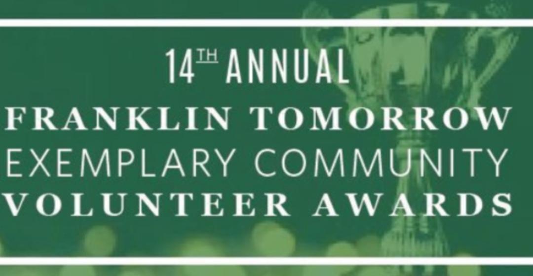 Executive Director Olivia Wolfson wins Youth Initiative Award at Franklin Tomorrow's Exemplary Community Volunteer Awards